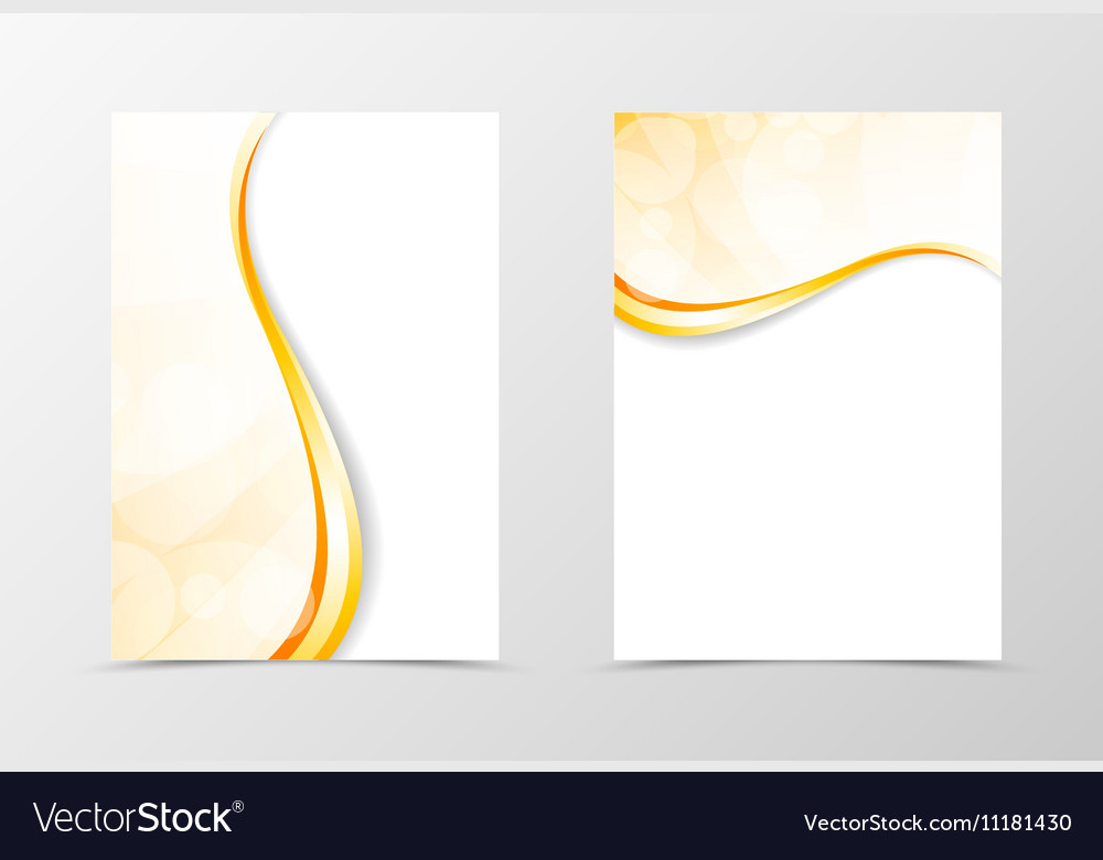 Front and back light smooth flyer template design