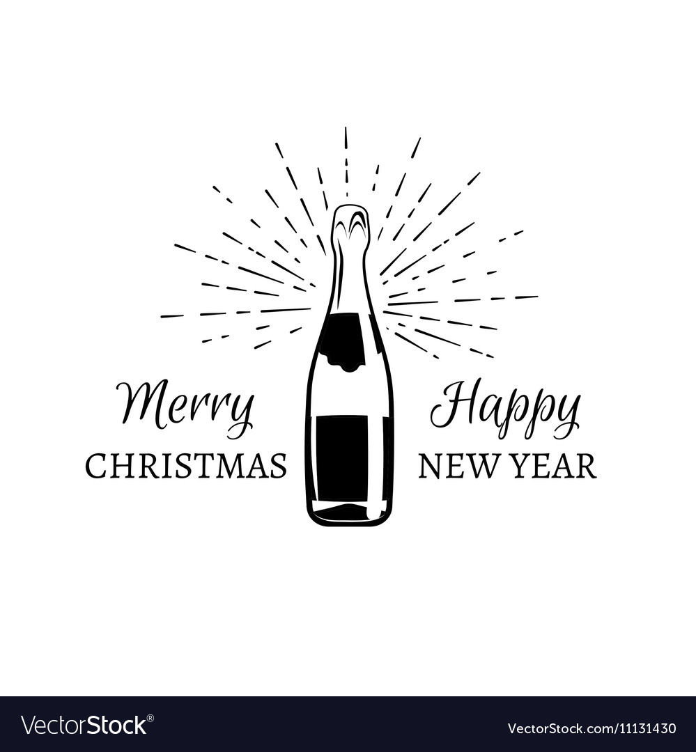 Merry Cristmas And Happy New year of explosion of vector image
