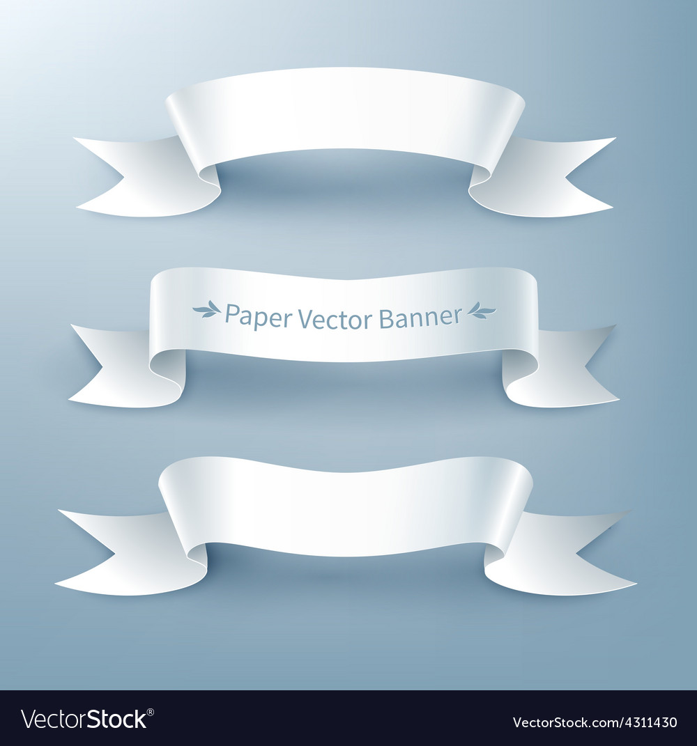 Paper ribbon banner