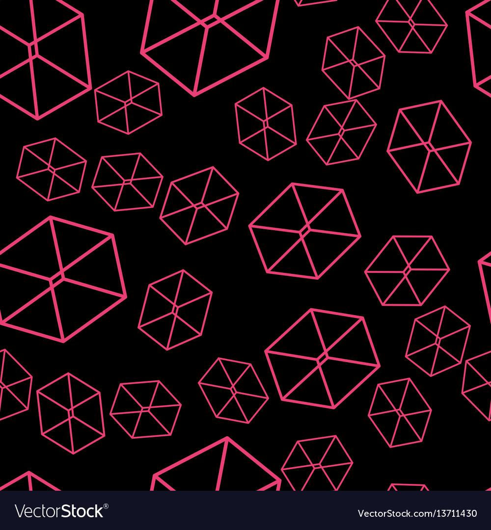 Seamless geometric pattern on the wallpaper