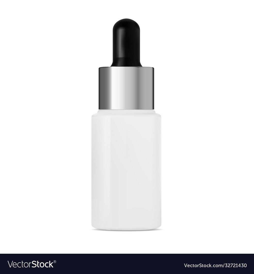 Serum dropper bottle mockup cosmetic collagen