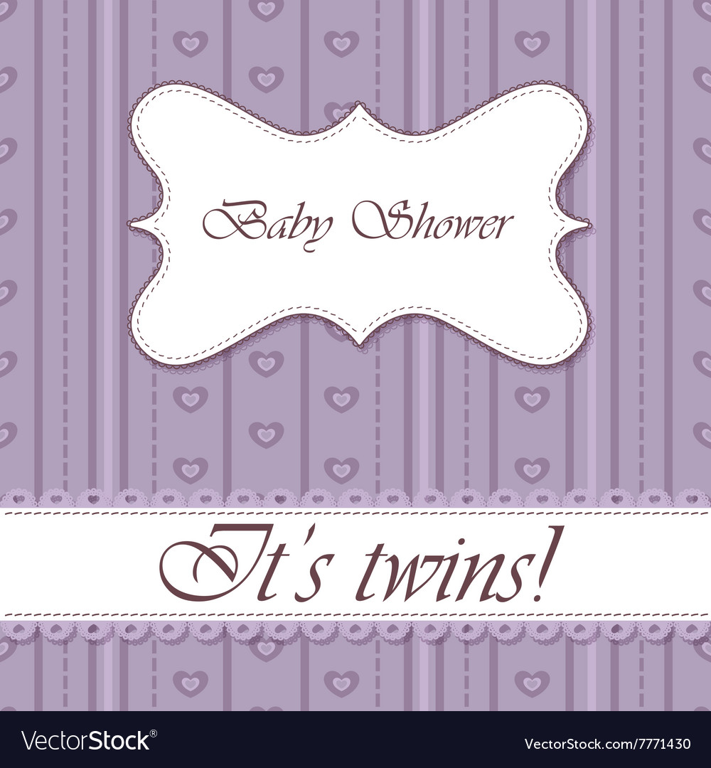 Striped-background-baby-shower-butterfly-twins vector image