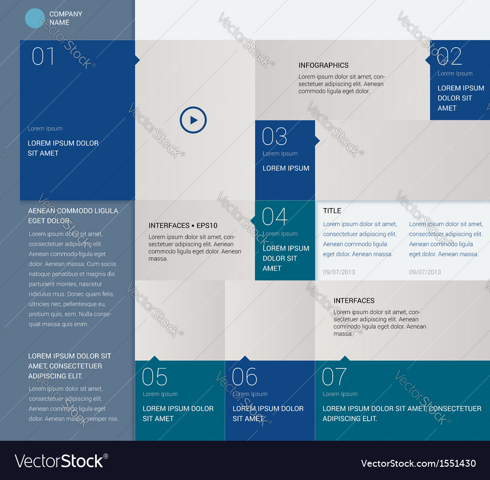 Template for Infographics metro style Infographics vector image