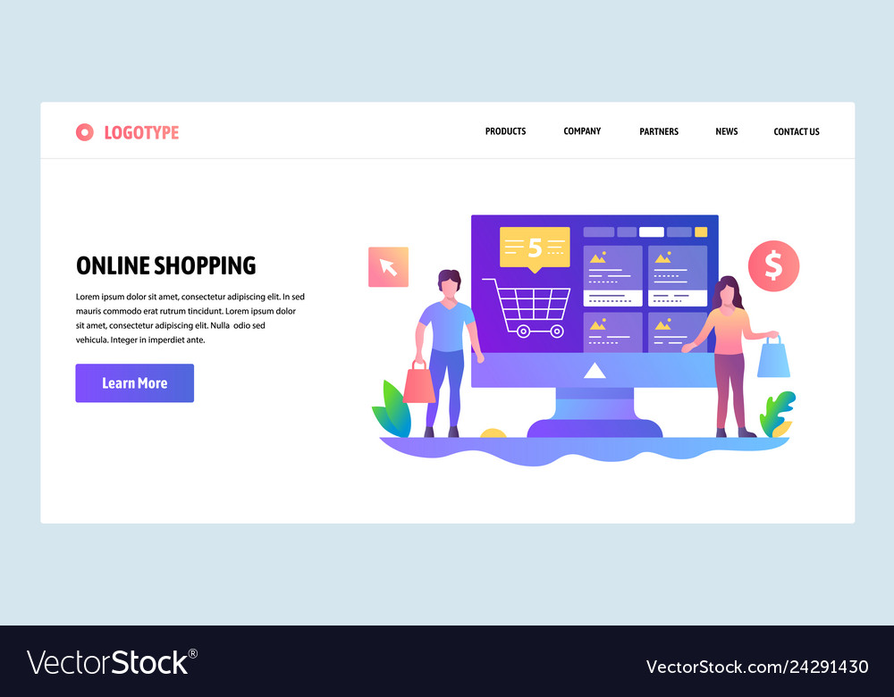 Web Site Design Template Online Shopping