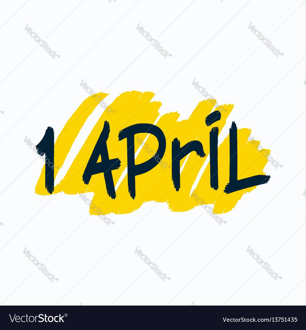 1 april brush lettering