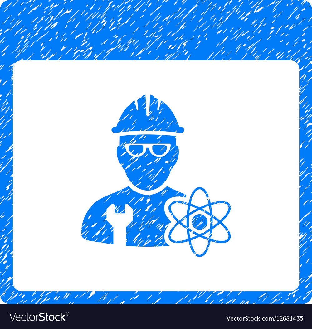 Atomic Engineer Calendar Page Grainy Texture Icon