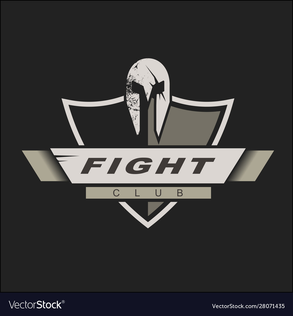 Logo template with spartan helmet and shield