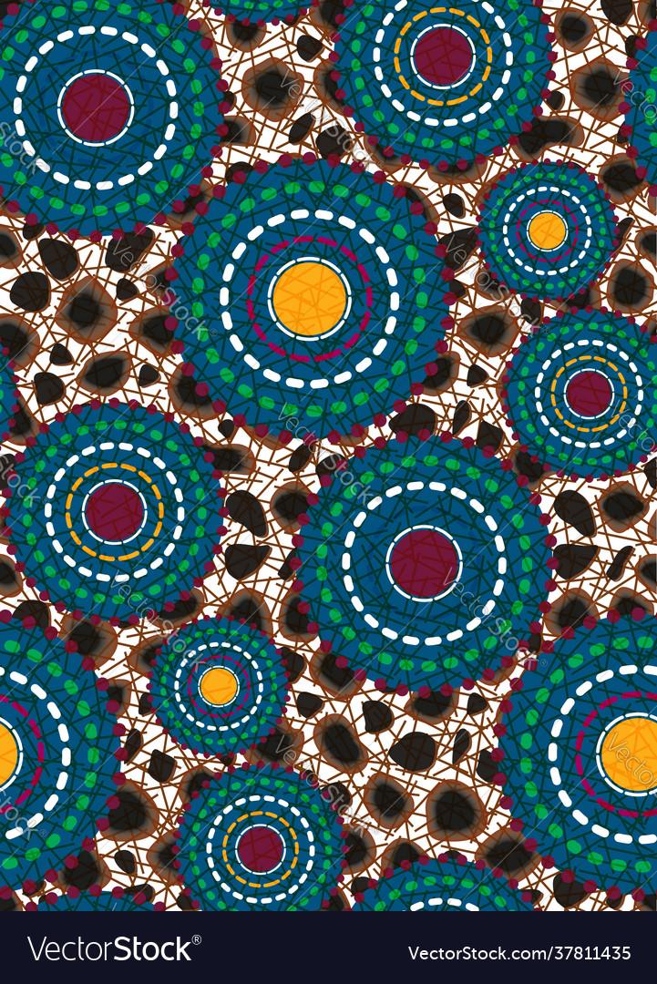 Seamless african wax print fabric ethnic handmade