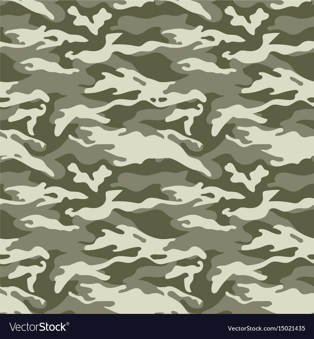 Seamless camouflage pattern woodland style