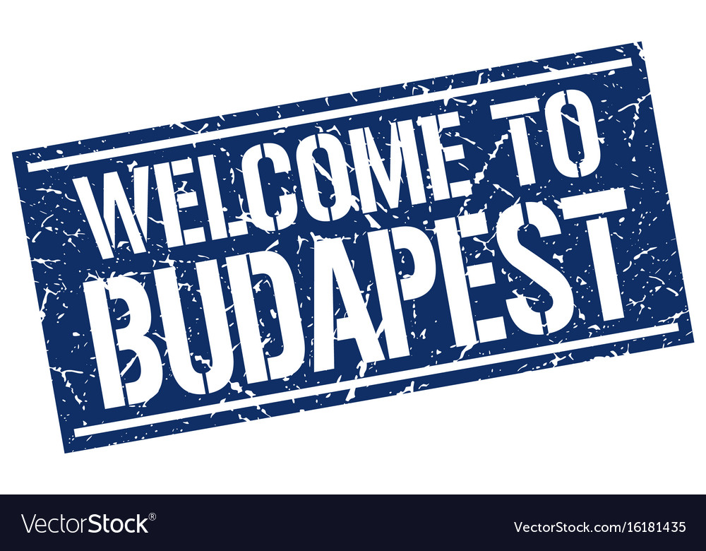 Welcome to budapest stamp vector image on VectorStock