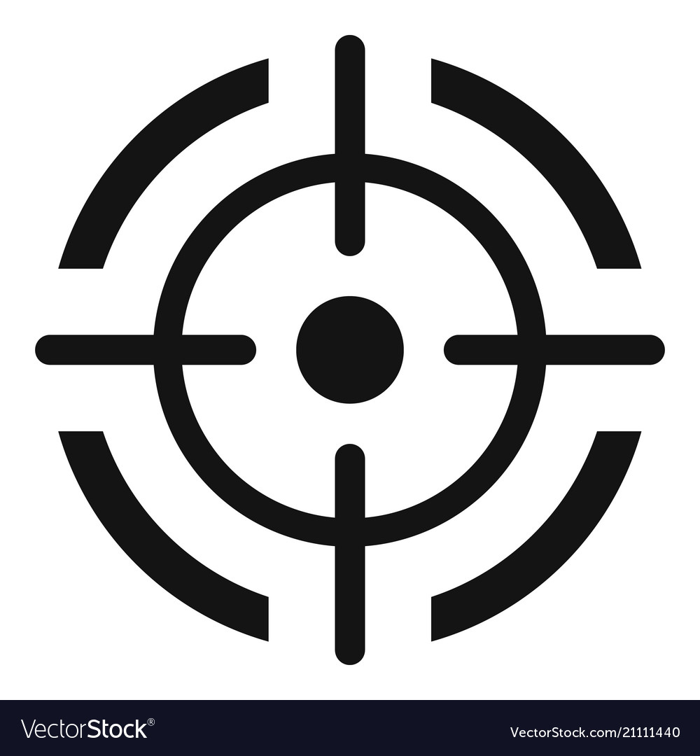aim target icon simple style royalty free vector image vectorstock