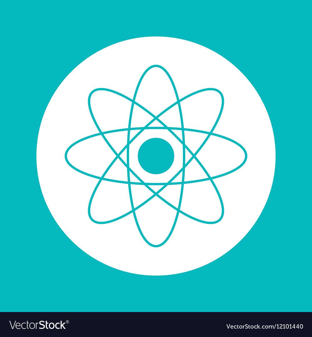 Atom inside circle design