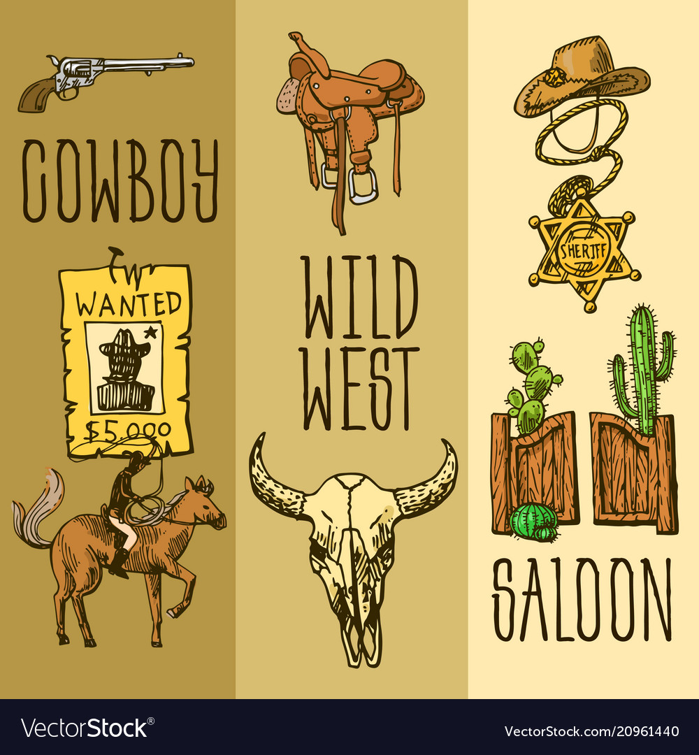 Western, Hand, Drawn & Art Vector Images (66)