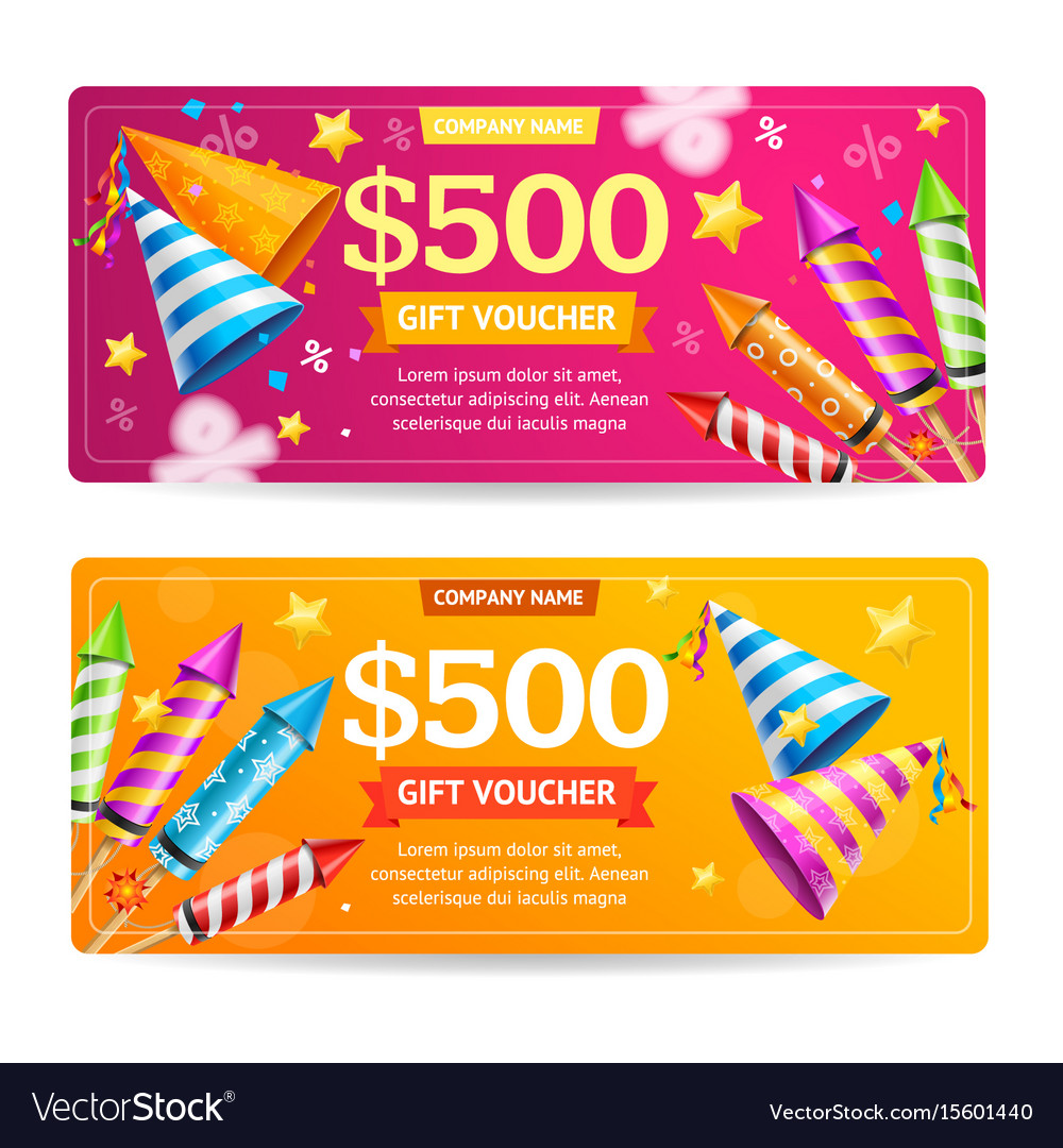 Gift voucher template set