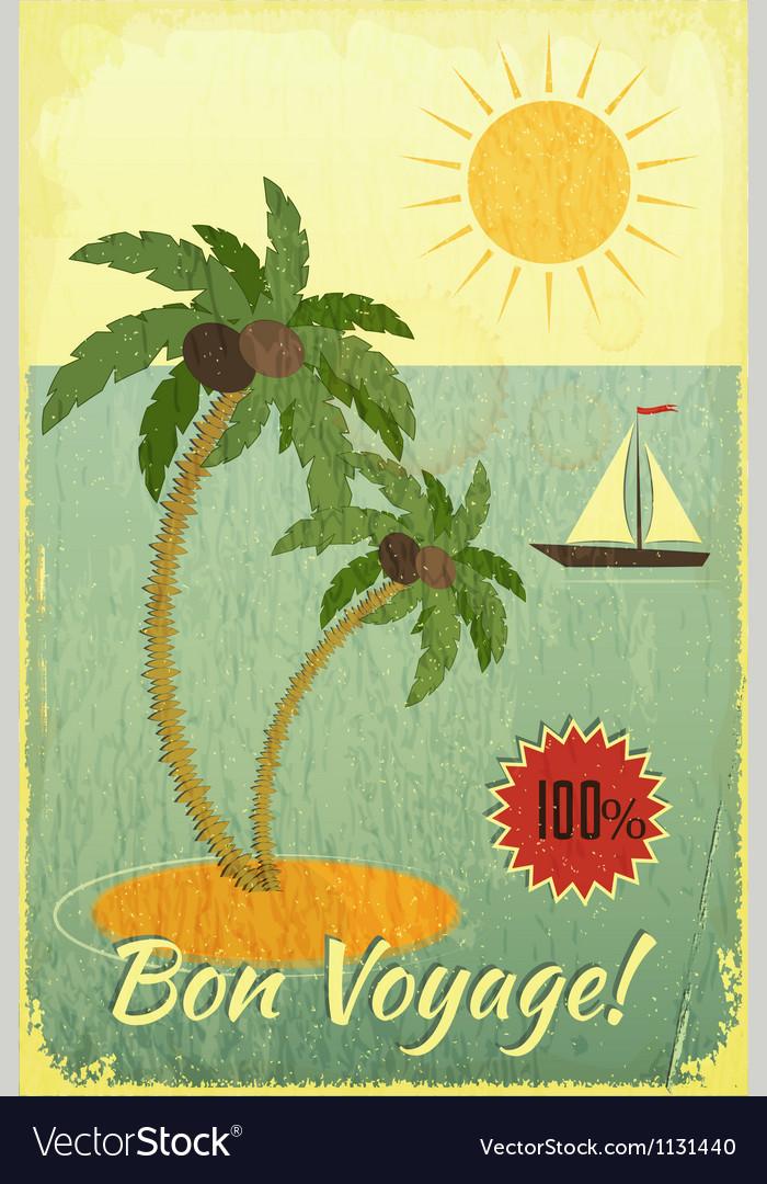 Retro Vintage Grunge Travel Postcard vector image