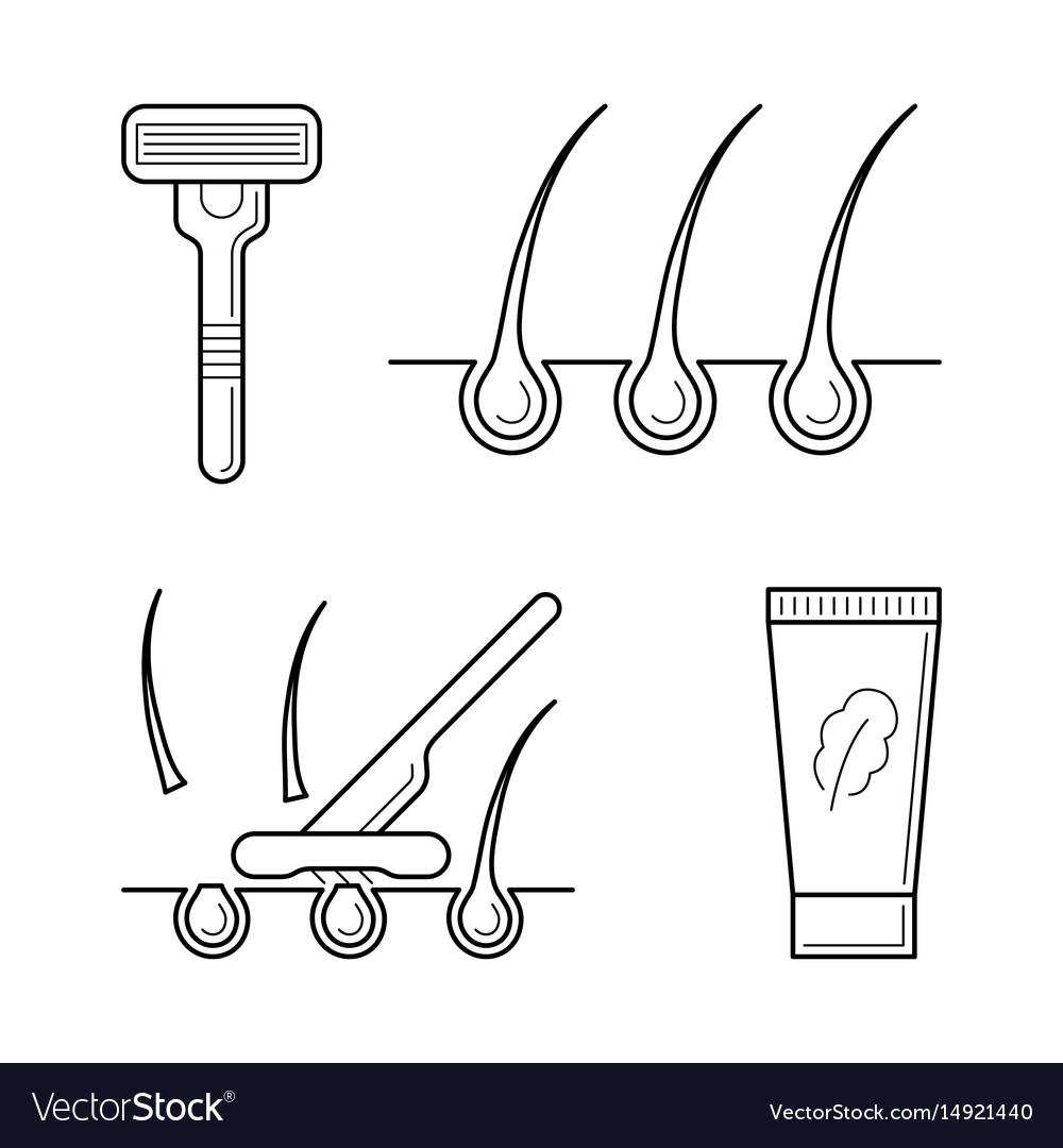 Shaver razor with blade cream vector image