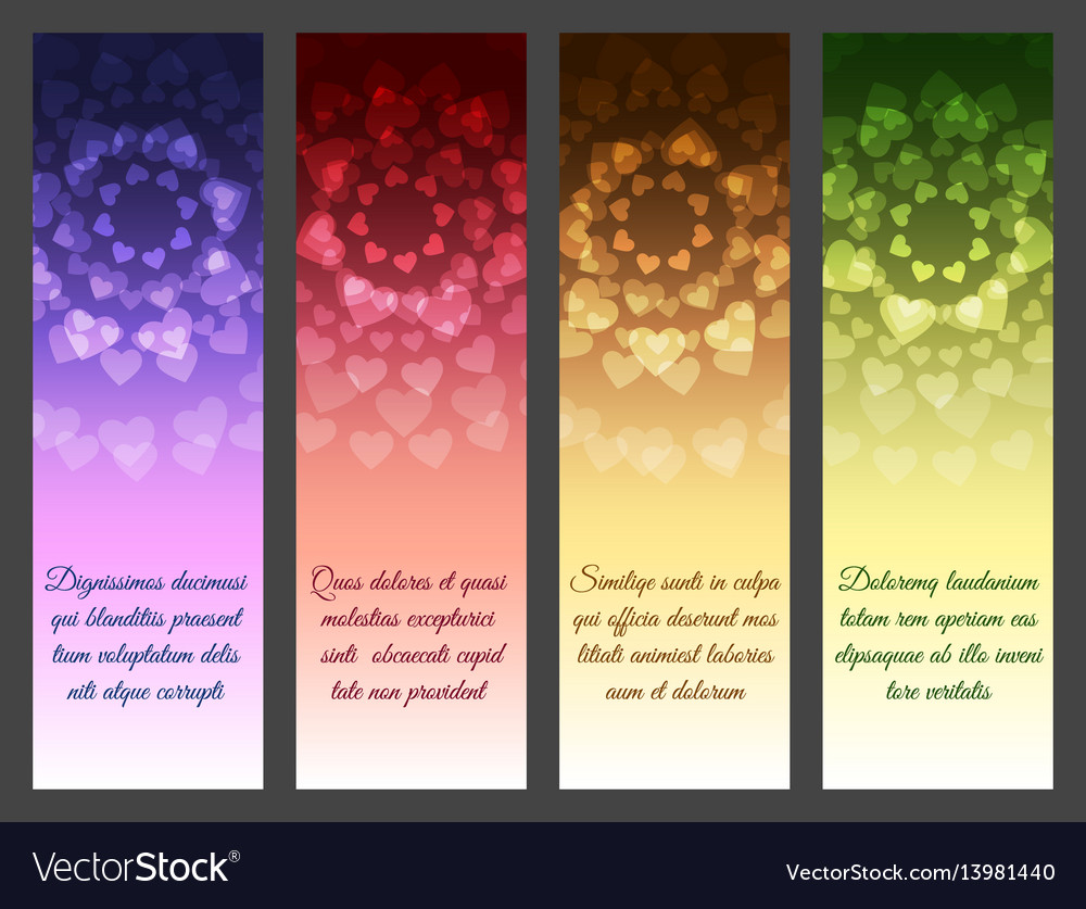 Vertical abstract banner set