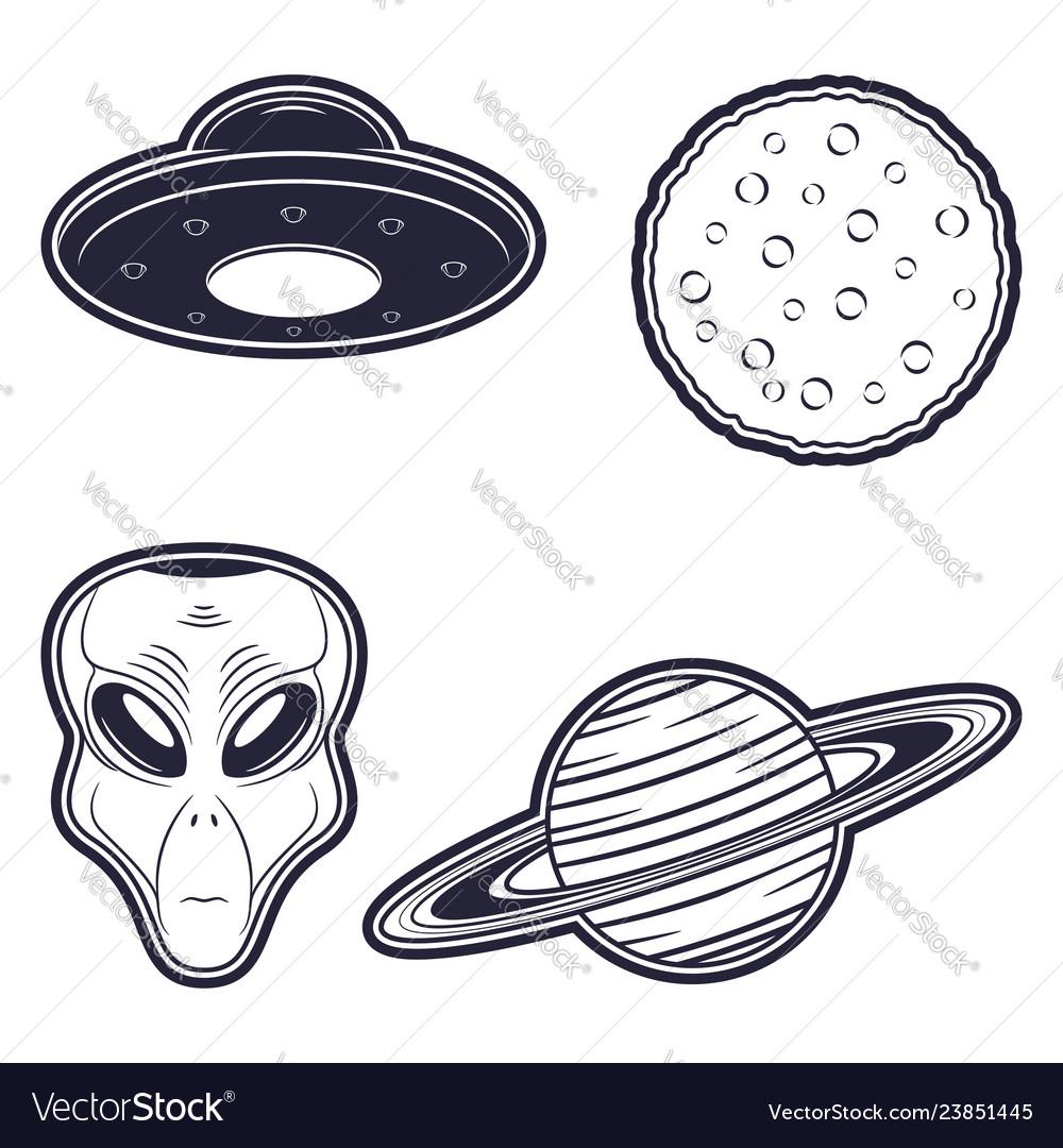 Alien ufo moon