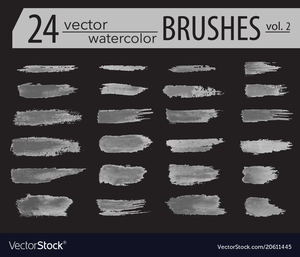 Brushes dry ink paint grunge hand drawn