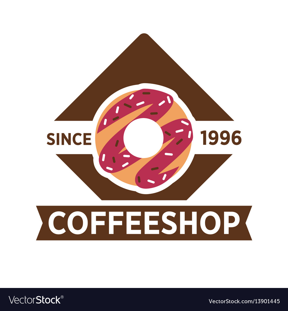 Coffeeshop cafeteria or cafe icon template vector image