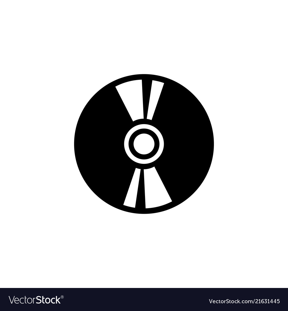 Compact disc flat icon