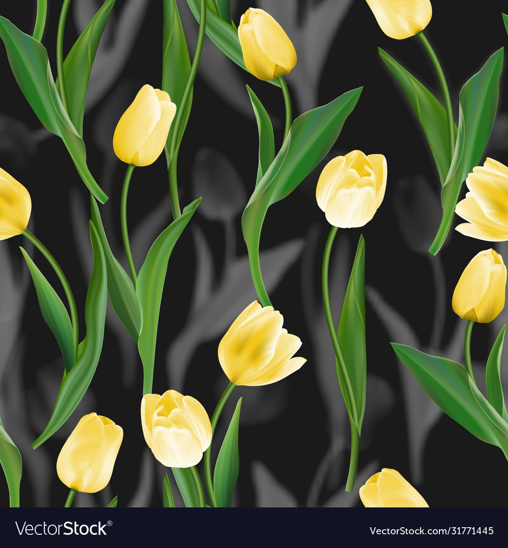Flower seamless background tulips over