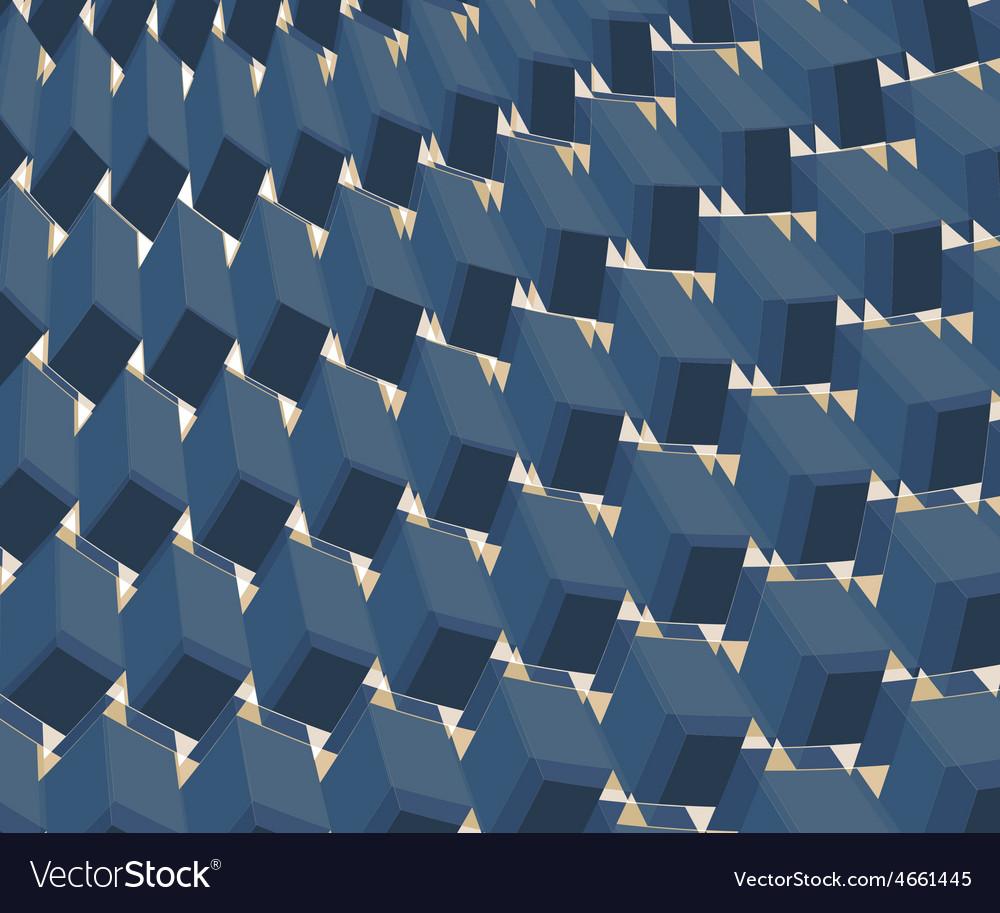 Ornate background Design BLUE vector image