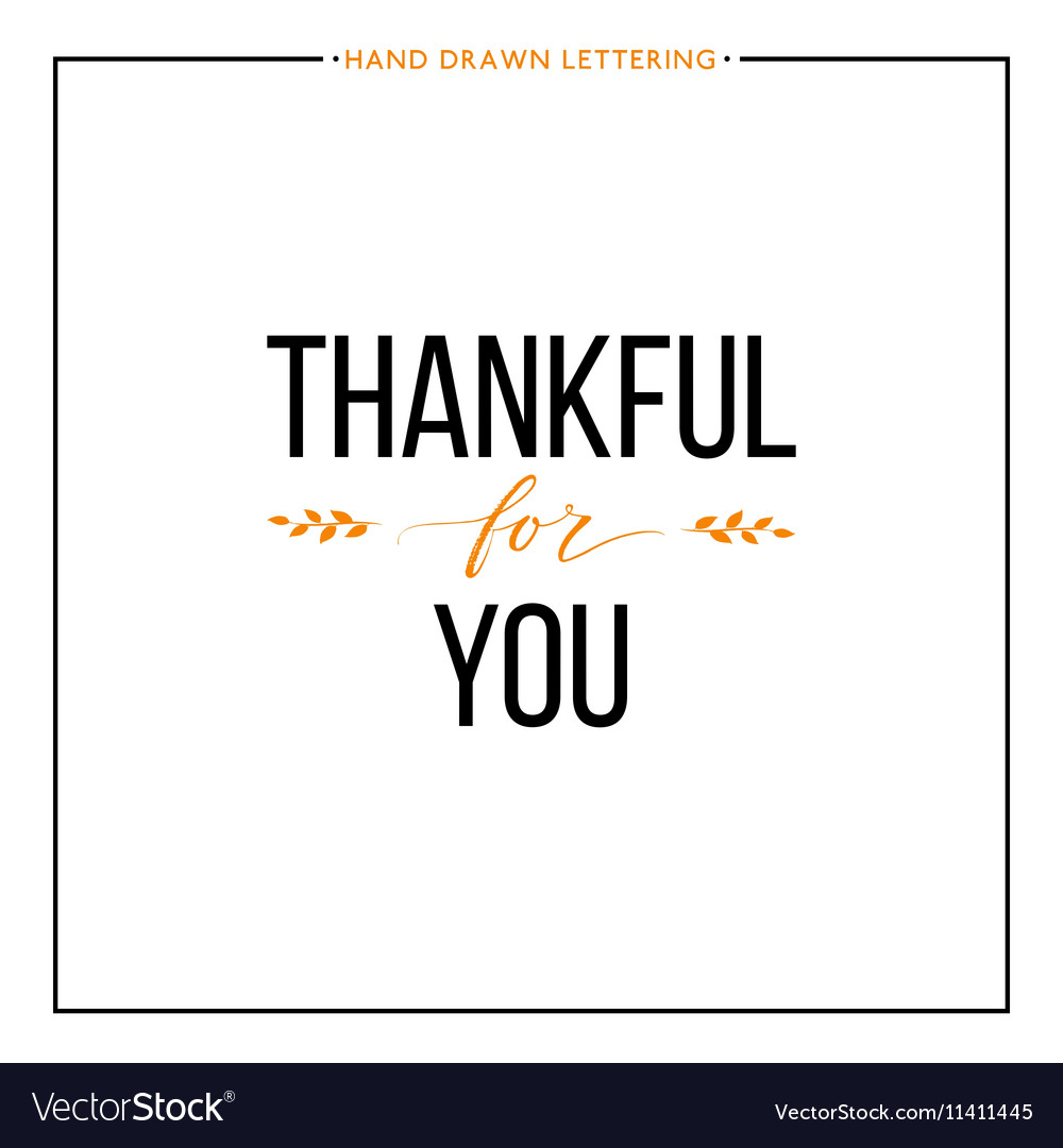 Thankful for you text with orange leaves