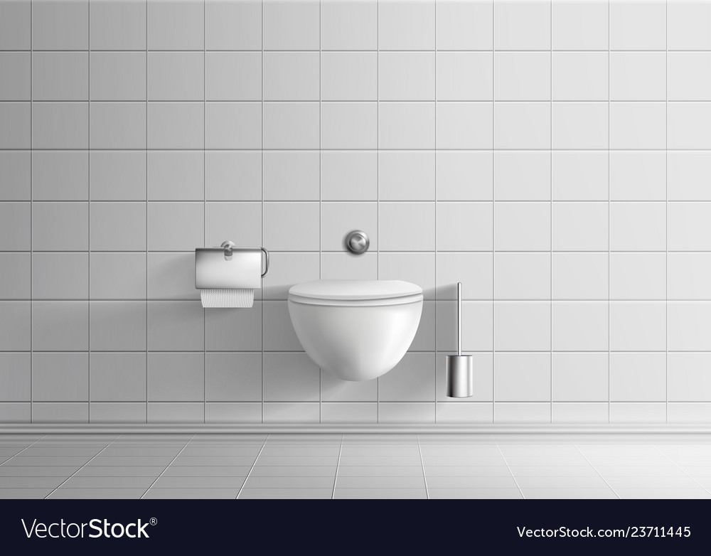 Toilet Room With Wall Hanging Bowl