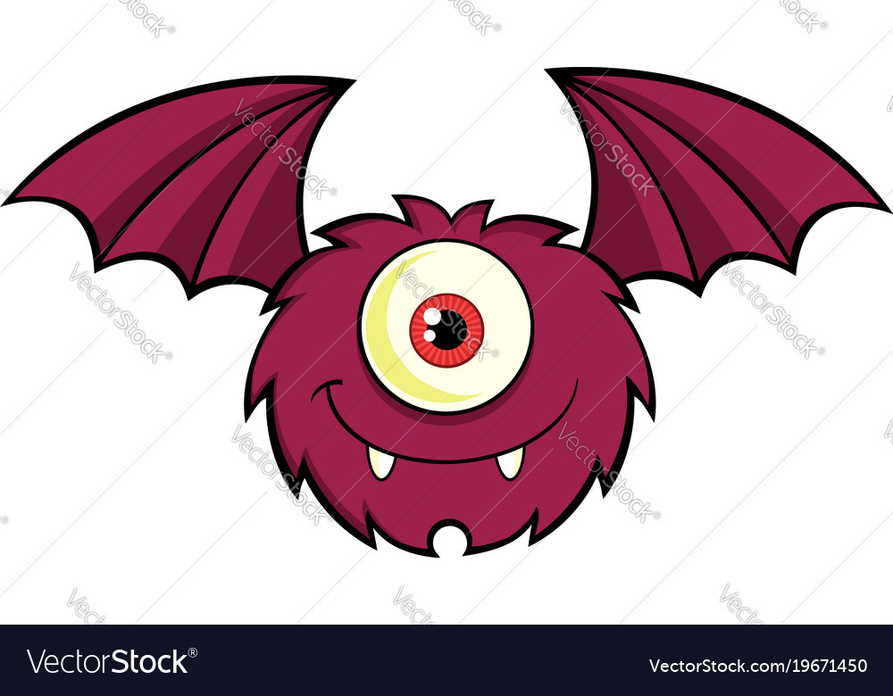 Cute One Eyed Monster Cartoon Character Royalty Free Vector