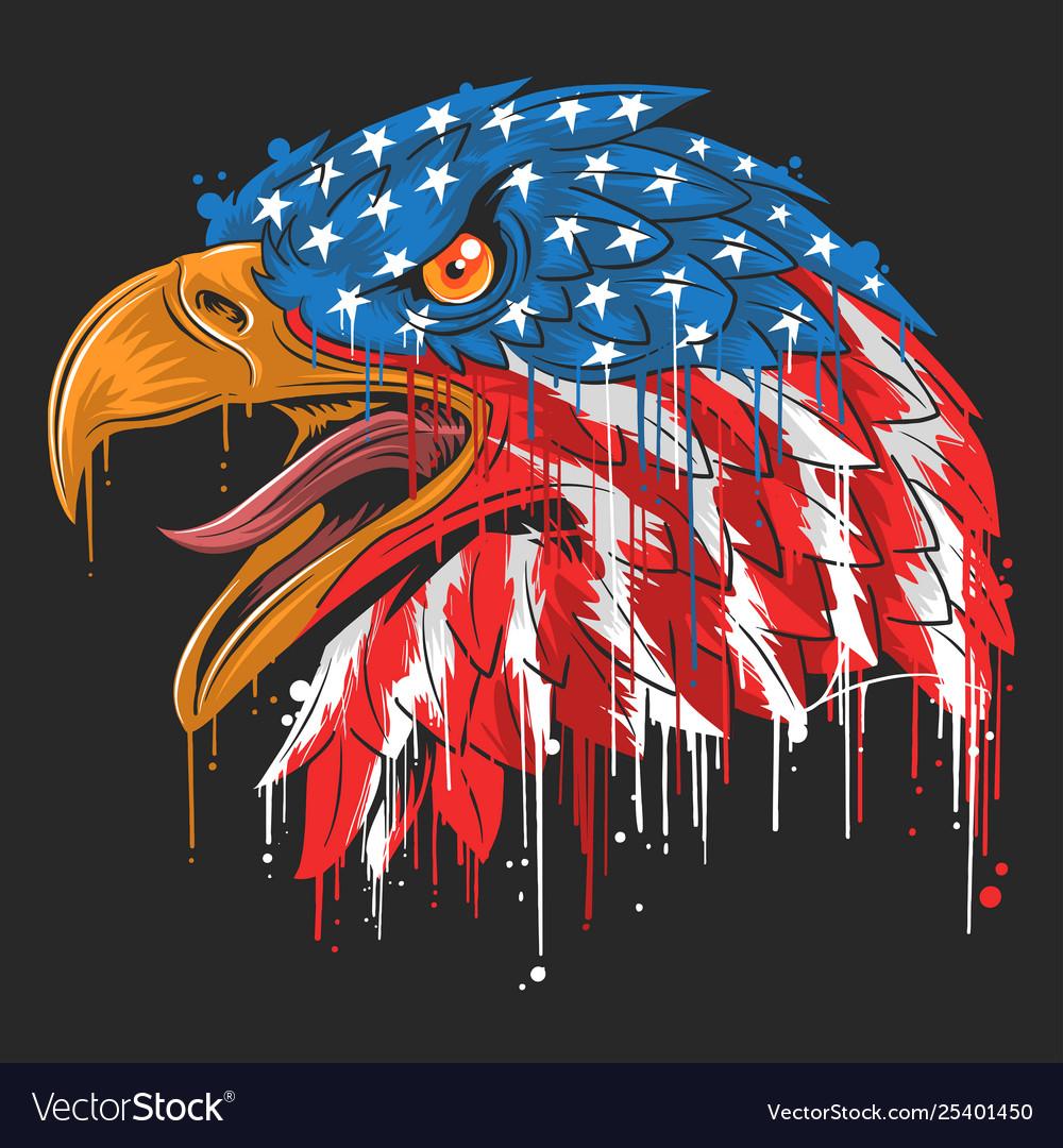 Eagle independence usa flag america