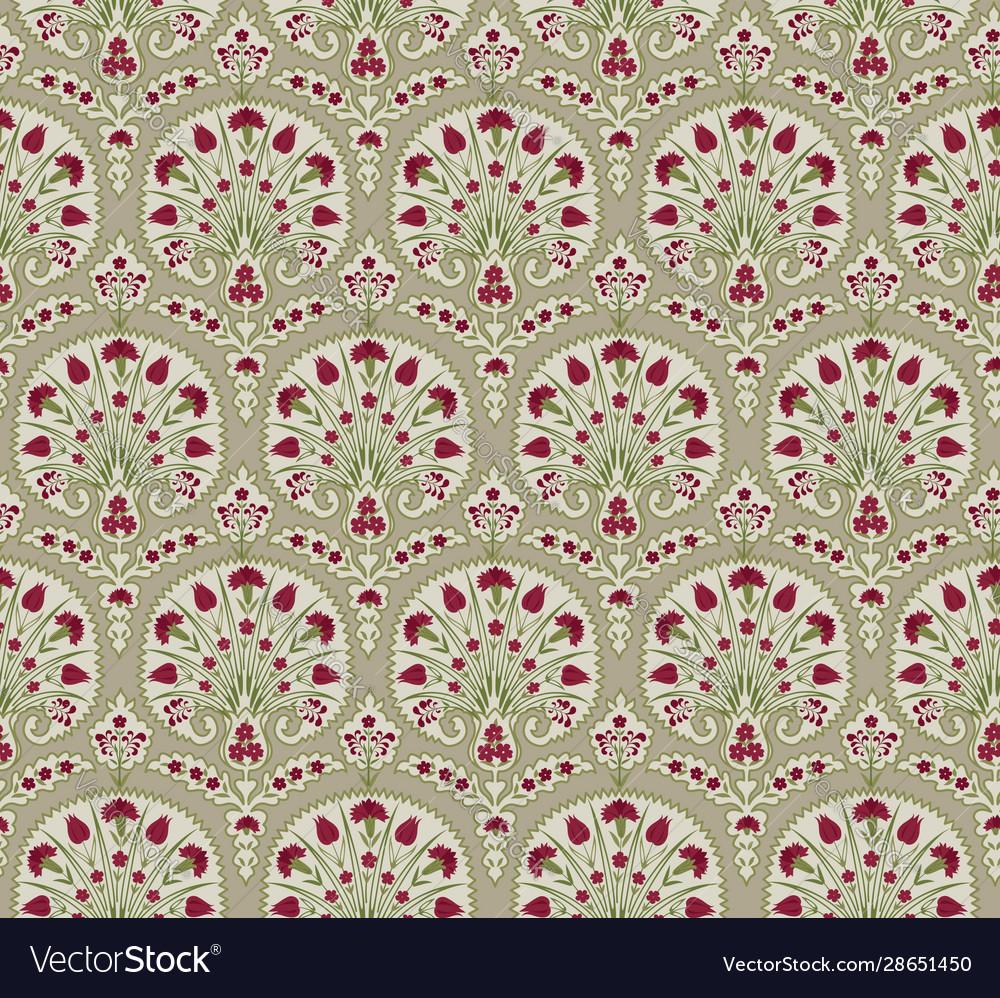 Floral seamless fabric pattern flourish tiled