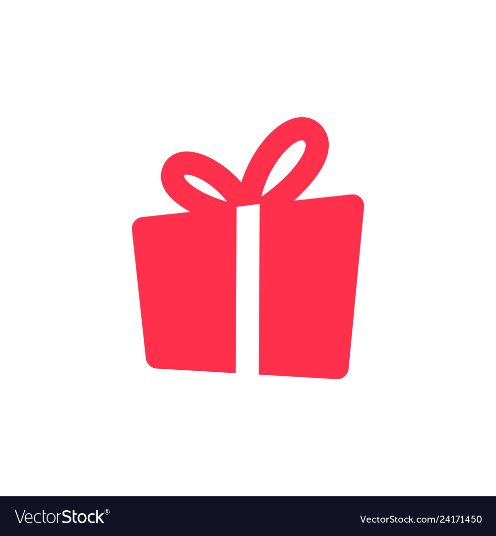 Gift Icon Solid Logo Download Royalty Free Vector Image