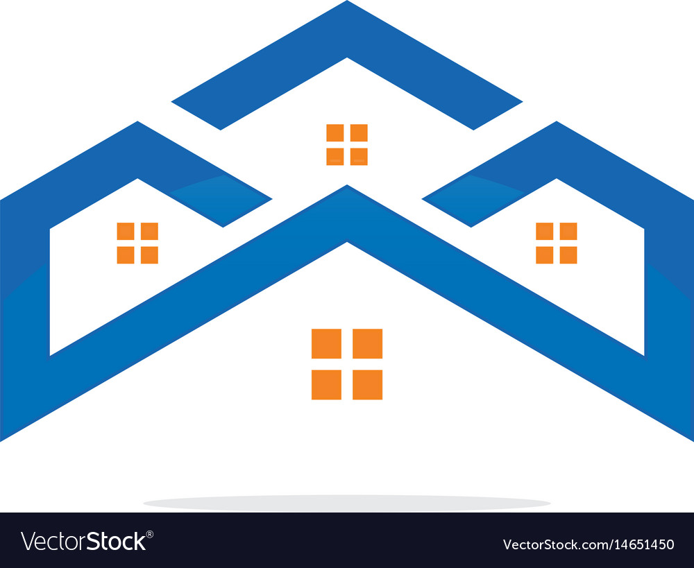 House realty construction logo image vector image