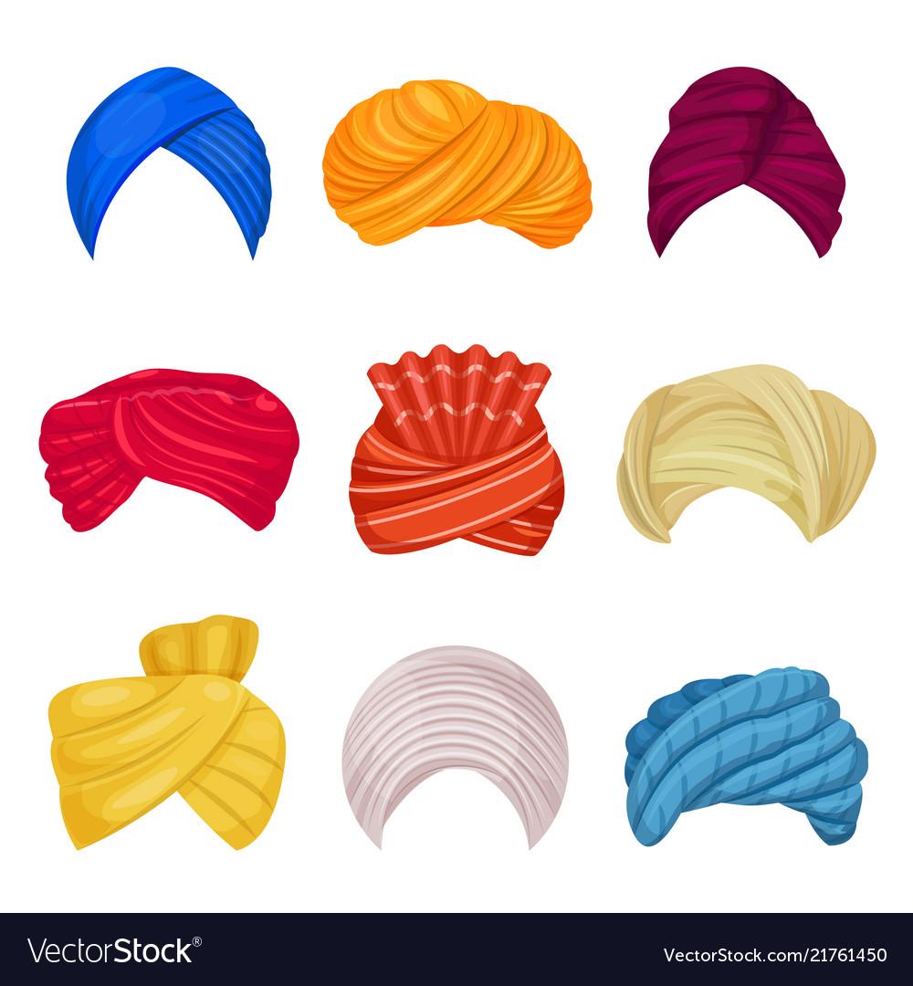 Indian and arabic turban on
