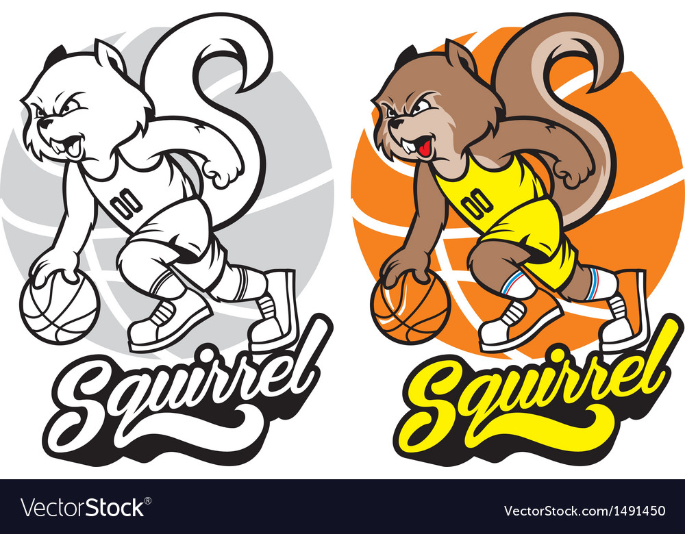 Squirrel basketball mascot