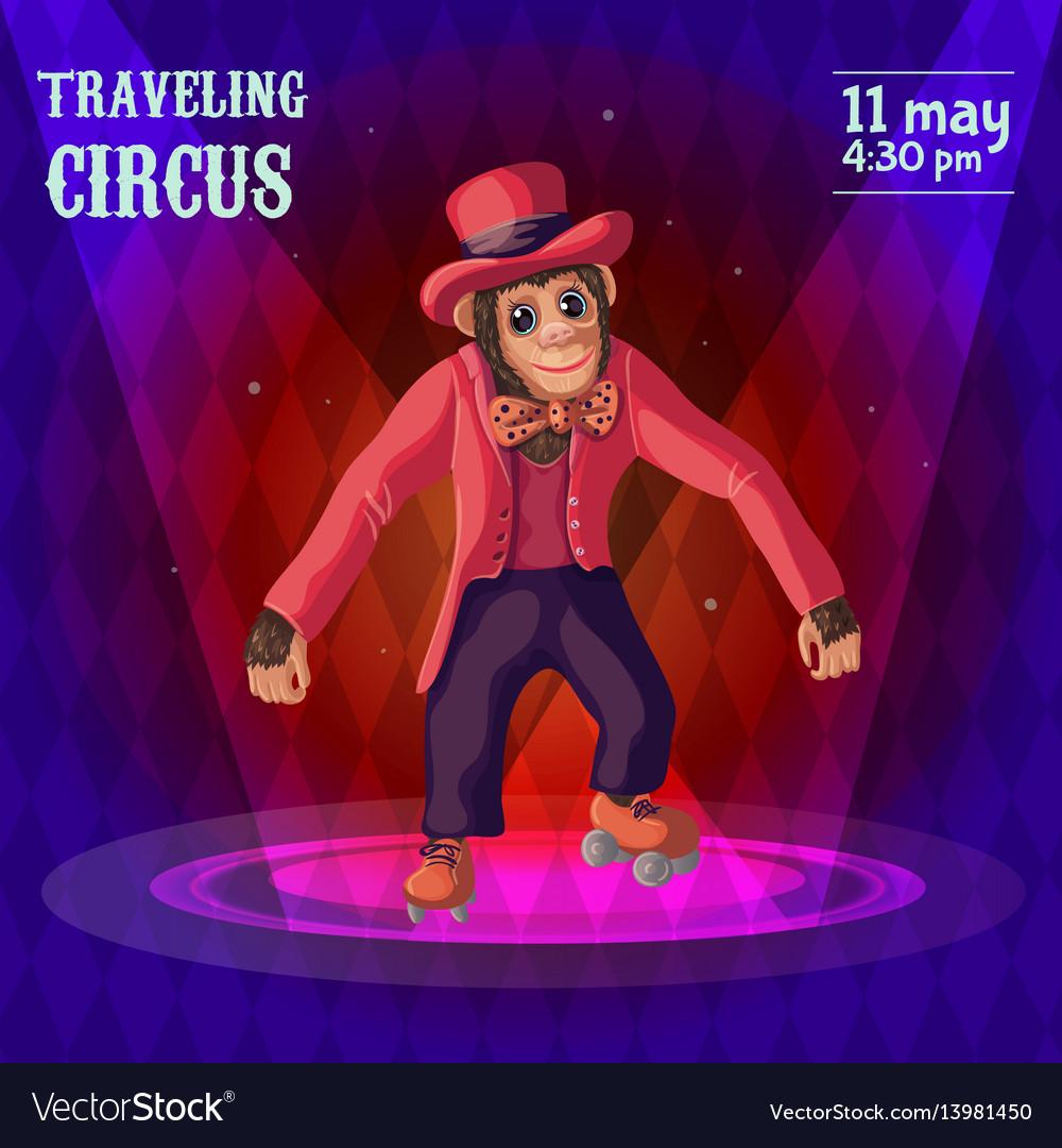 Traveling circus advertising poster