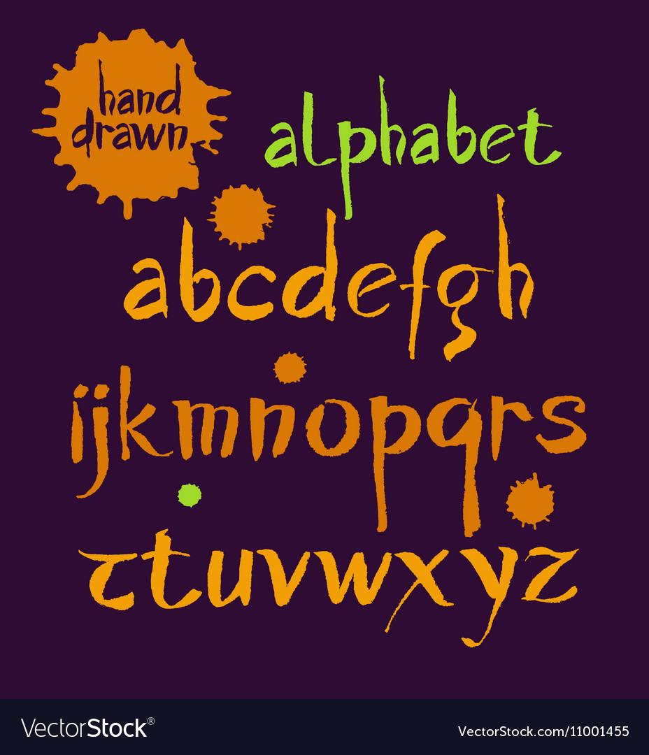 Acrylic Brush Style Hand Drawn Alphabet