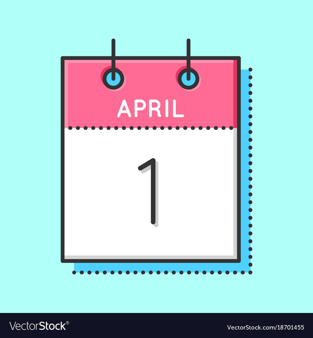 April calendar icon