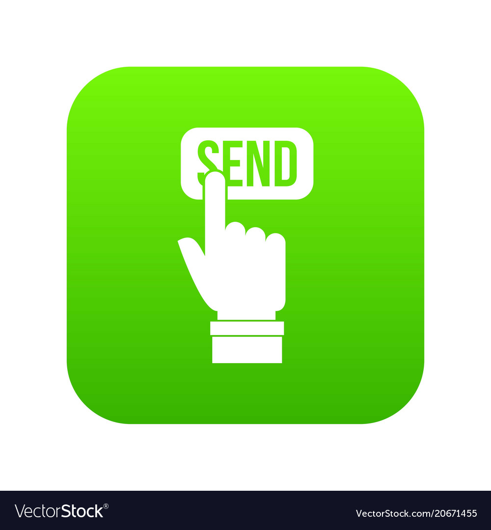 Email communication concept icon digital green