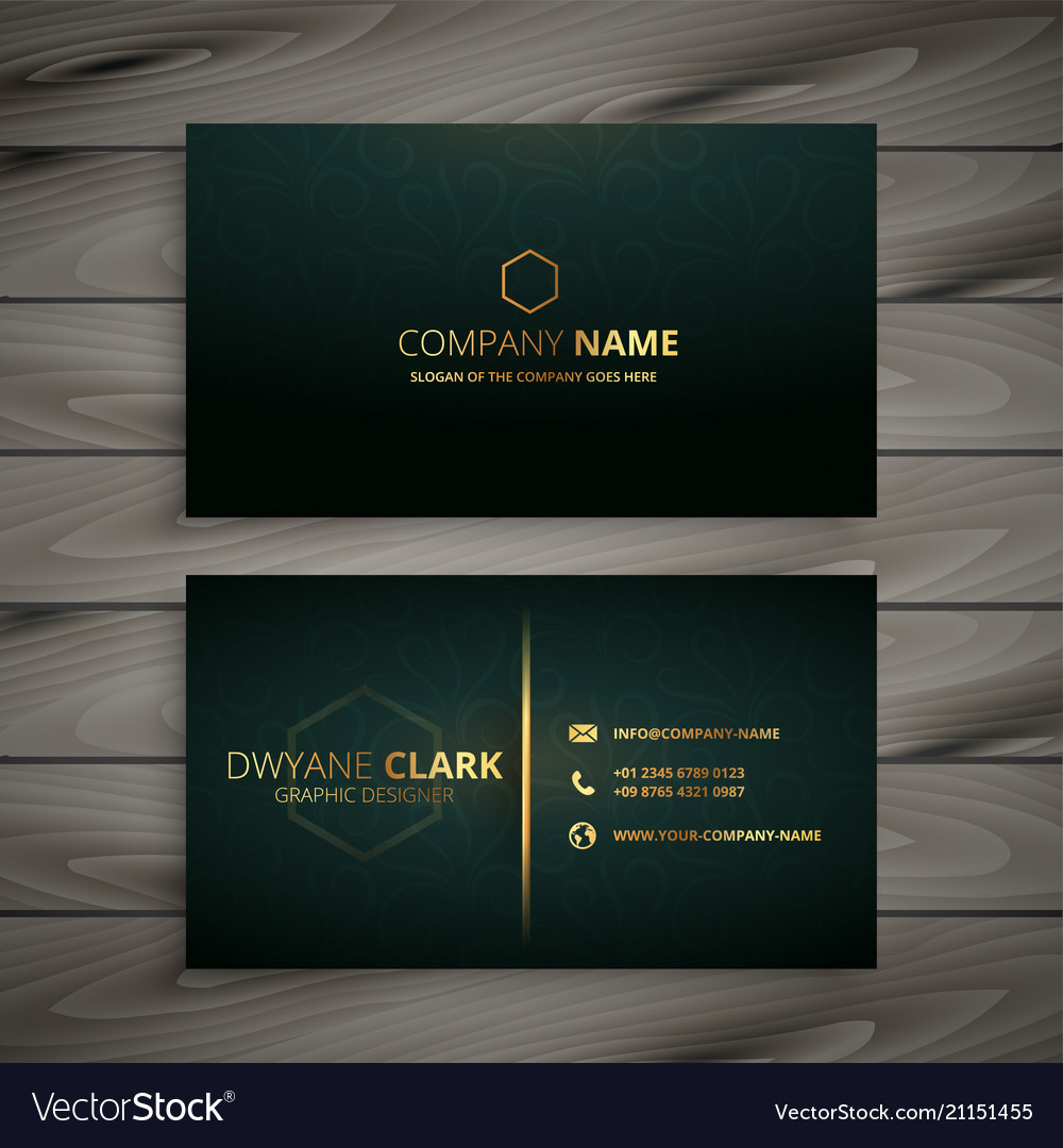 Premium Elegant Business Card Template Vector Image
