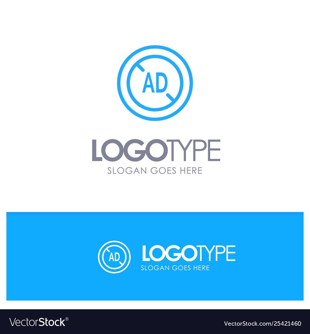 Ad blocker ad blocker digital blue outline logo