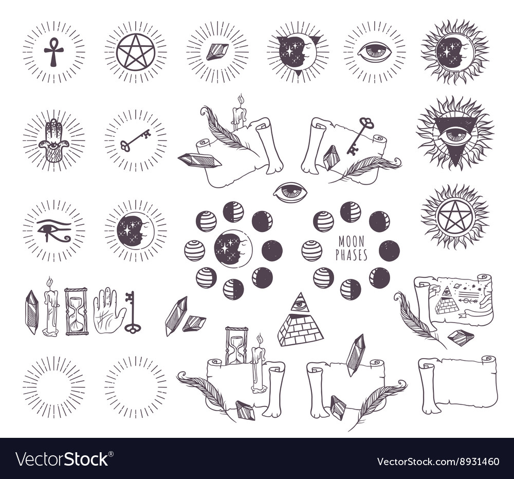 Astrology esoteric icons