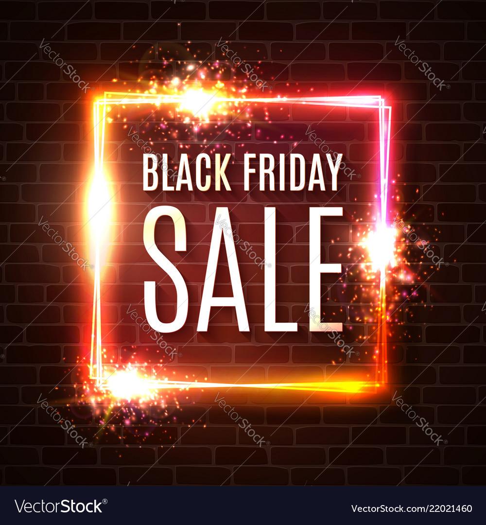 Black friday banner seasonal sale design template