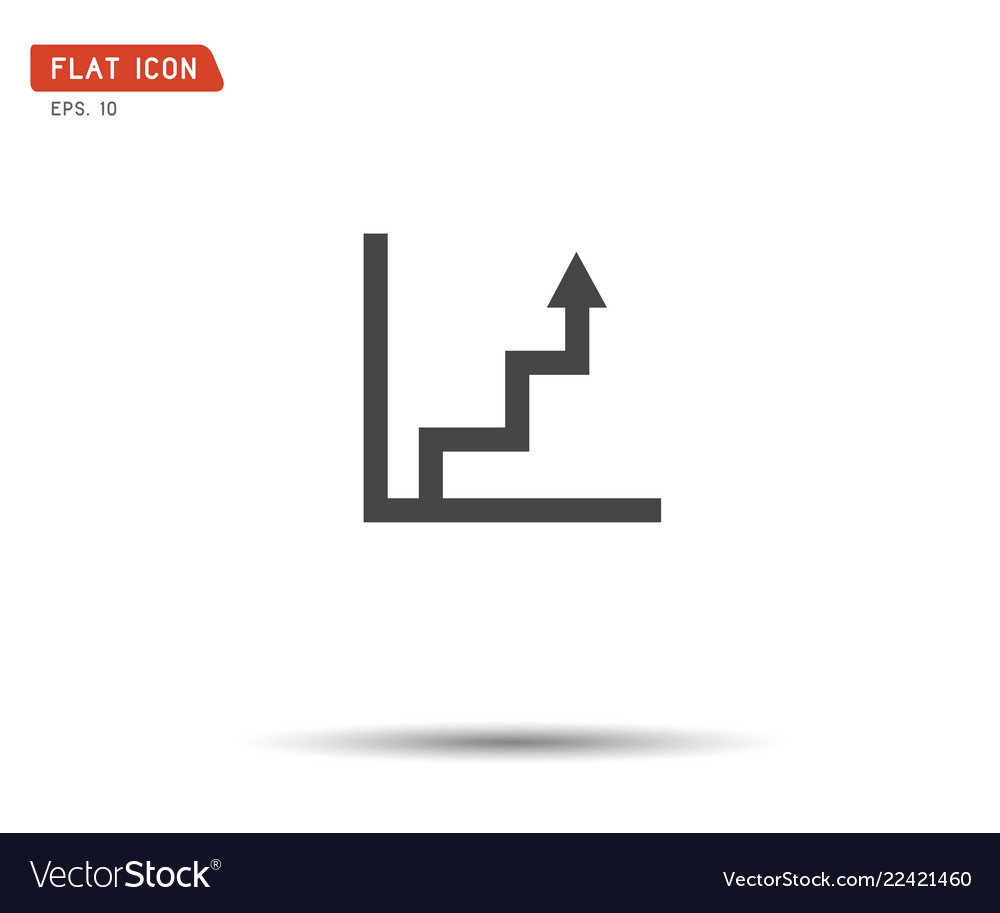 Business graph icon logo eps