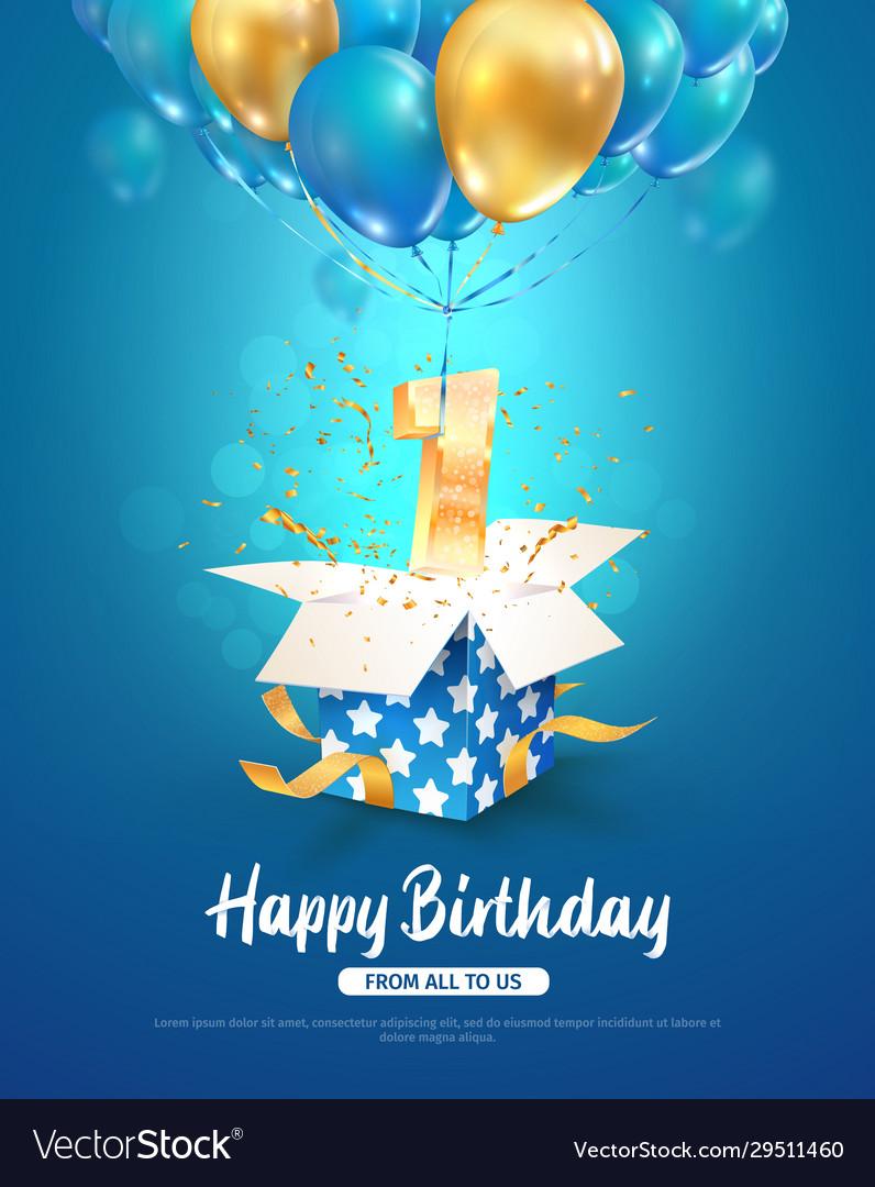 Celebrating first year birthday 3d