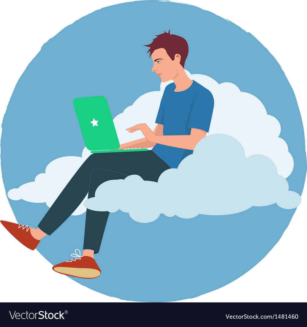 Cloud Internet vector image