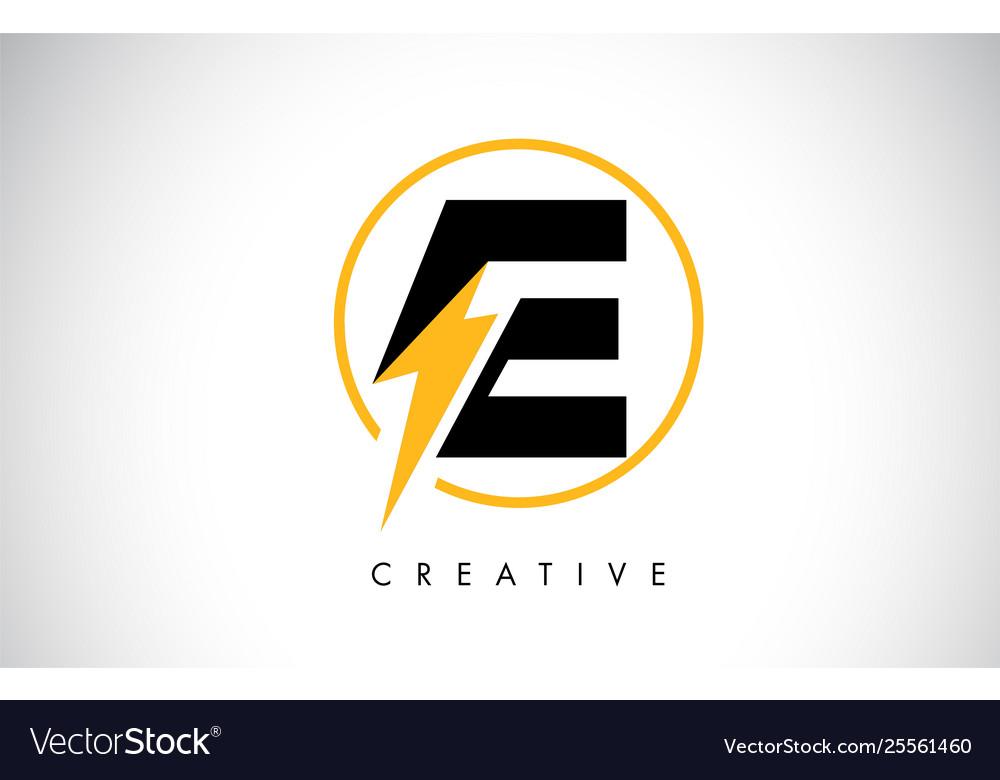 Logo Design With Lighting Thunder Bolt