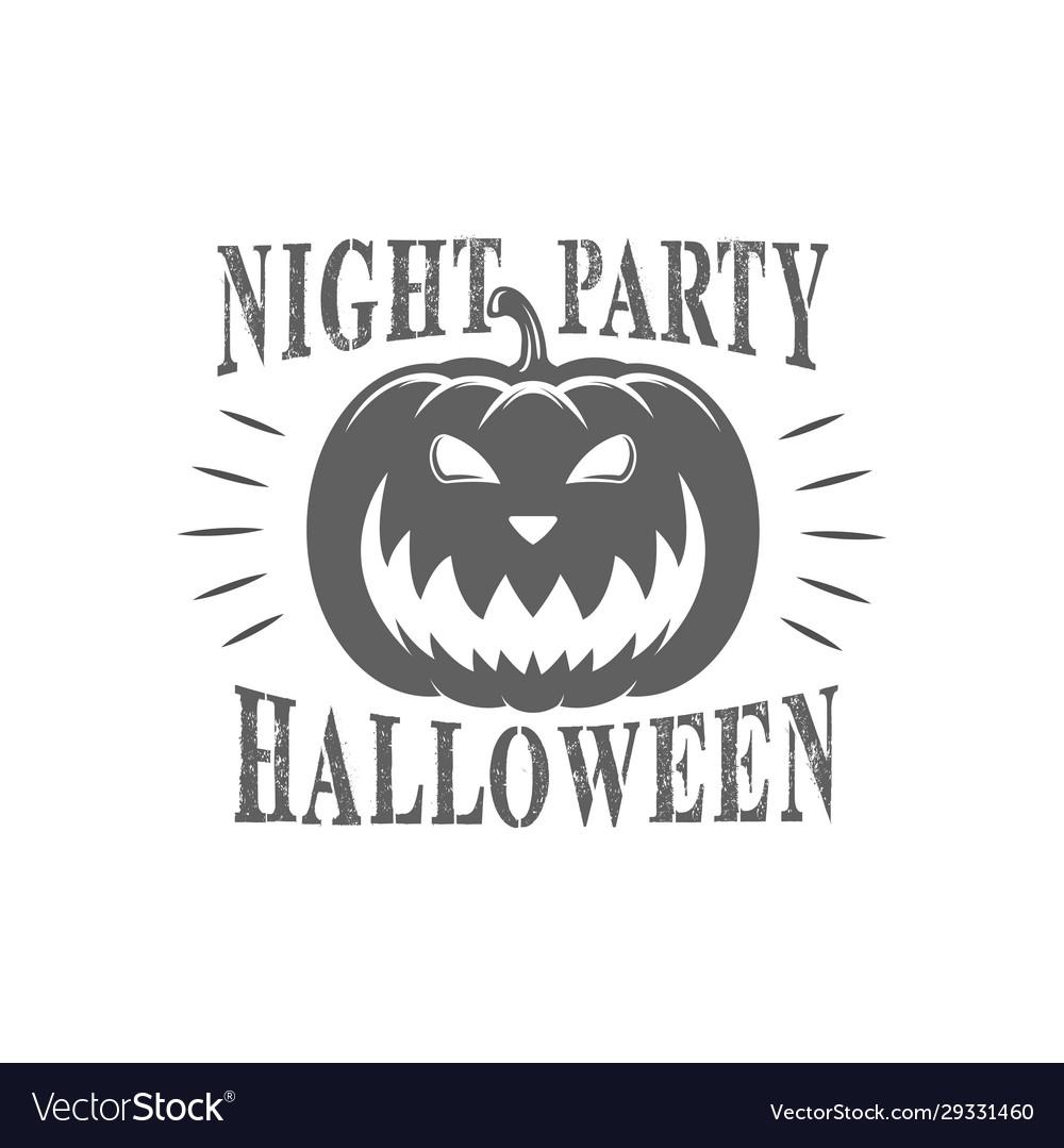Halloween day logotype