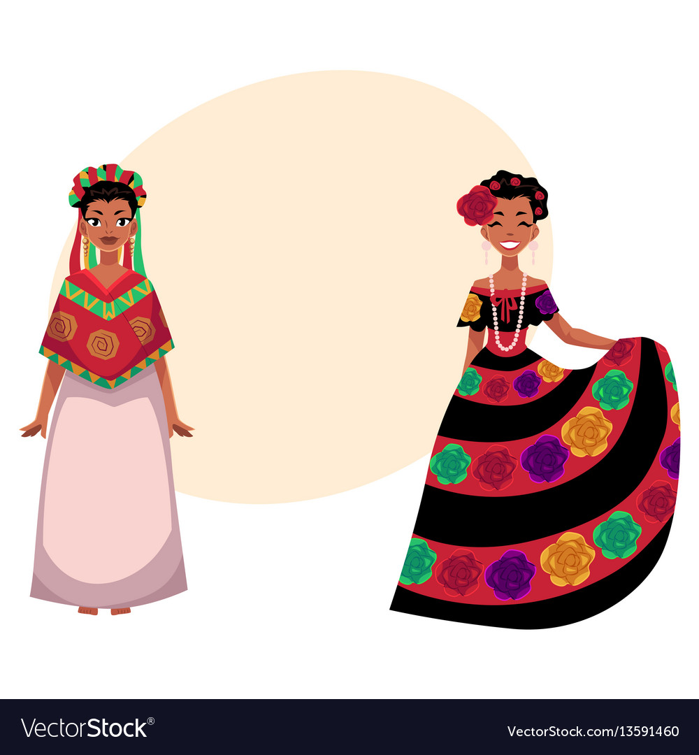 Mexican woman in traditional national dress
